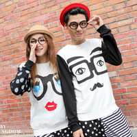 2013 lovers autumn personalized long-sleeve sweatshirt