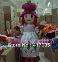 1Pcs Free Shipping Cartoon Doll clothing apparel advertising strawberry princess costumes props