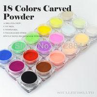 Supernova Sale 3d Nail Art Decorations 18 Colors Carving Pattern Powder Colorful Carved Powder Nails Decoration Supplies C003