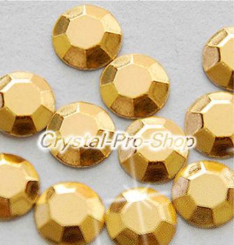 1440 pieces Light Gold 3mm 10ss ss10 Faceted Hotfix Rhinestuds Iron On Round Beads Aluminum Metal Design Art (u3m-Lt Gold-10 gr)