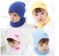 New Hot Kids Warm Scarf+Hat Fit 6Month-5Ys Girls Boy Children Skullies & Beanies+Scarf Baby Accessories Wholesale 4Set/Lot