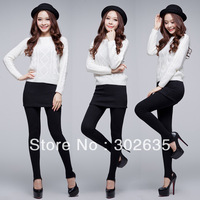 Free Shipping 200pcs/lot One Piece Women's Skirt Leggings Fashion Skirt With Pants Skinny Pencil Pants Casual Wear