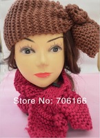 Newest,women headband,handmade warm knit flower hair band , and can used as a scarf.can mix color.EMS/DHL free shipping