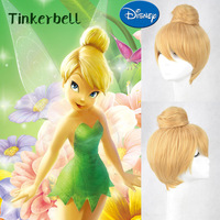 Blonde Short Buns Tinker Bell Cosplay Wigs Cos Wig Exactly As Prototype 2013 New Free Shipping