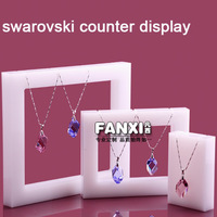 Free Shipping Unique White Acrylic Jewelry Necklace Display PendantStand 3pcs/ Set Good for Crystal Display