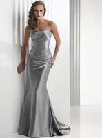 Mermaid Sweetheart Floor-Length Satin Wedding Dress With Beading HWGJWD200