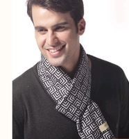 FREE SHIPPING  Men autumn and winter scarf popular plaid british style single face jacquard 180 32cm