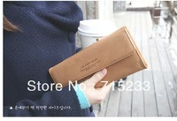 women's PU envelope clutch bag long leather Wallet Ladies designer Purse Checkbook Handbag free  shipping