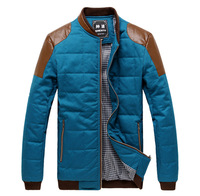 free shipping Men's clothing 2013 design short coat wadded jacket slim thermal the trend of casual male cotton-padded jacket