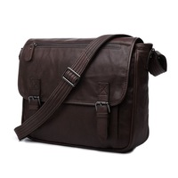Free Shipping Fashion High Quality Vintage 100% Genuine Leather JMD Men Messenger Bags Shoulder Bag Fit For tablet PC #7022C