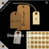Wholesale Kraft Ring Label Stickers for Gift Tag Free Shipping Buff/Kraft hang tag ring/round hole reinforcement stickers/labels