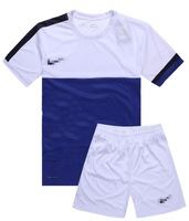 Paintless soccer jersey set blank football clothing football training suit diy