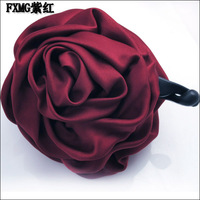 Hair accessory hair accessory big gripper hair accessory solid color big rose banana clip