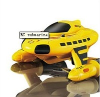 New Mini Yellower Radio RC Remote Control Sub Submarine Boat Explorer  Toy Kids Free Shipping & Wholesale