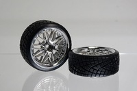2PCS 1:10 RC Car On Road 26MM Wheel Rim & Tyre