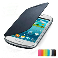Low price case cover skill for Samsung Galaxy S3 mini I8190 Back Cover Flip Leather Case