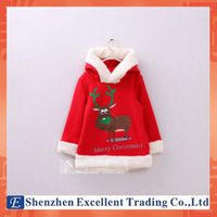 Adorable Christmas baby coat/Winter warm baby hoodies with lovely deer/New arrived costume