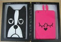 New 2014 3D Cute Cartoon Marc Creatures Animal Dog Rabbit Zebra Silicone Kids Cases Cover For Apple Ipad Mini 1/2 Retina Shell