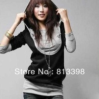 The New Women's Warm Outcoat Spring Autumn Full Sleeve  Hooded Sweater YNE0089
