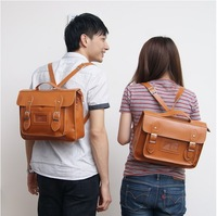 New British Vintage Leather Satchel Style Men and Women Backpack Shoulder Bag Tote