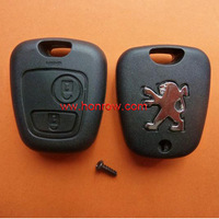 Peugeot 2 button remote key case for 307&407&406 key blade (without key blade)