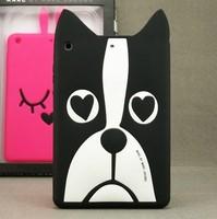 Free Shipping 3D Cute Cartoon Marc Creatures Animal Dog Rabbit Soft Silicone Cases Cover For Apple Ipad Mini 1/2 Retina Skin