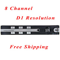Free Shipping Standalone Security CCTV DVR 8 Channel with H.264 Compression,8CH Real-time Full D1,Free DDNS,Mobile Phone View
