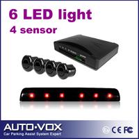 Free shipping car 4 stages warning  LED Display parking sensor kit system reverse Backup Radar with 4 sensors parking assistance