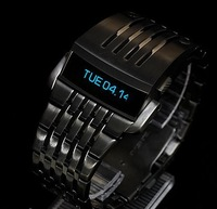 Wholesale high quality Luxury top brand Iron man Conception Blue LED Mens Watch DZ7080 with LOGO