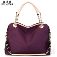Glan spring and summer women's handbag messenger bag nylon cloth elegant female bags