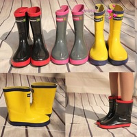 Three-color rain boots male female child rainboots rubber rain shoes water shoes
