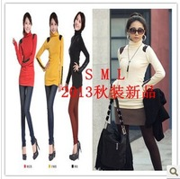 Free shipping! 2013 Autumn Korea Women's Tops  Hip long t shirt Women's t shirt