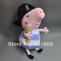 "Free Shipping 10/Lot Peppa Pig Plush Doll Stuffed Toy PIRATE GEORGE 7"" Wholesale"