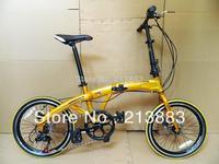 """2014 Latest hot sale exported folding bike\/fold up bicycle with disc brake 7speeds  20\"""" Aluminum folding bike"""
