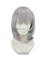 """16"""" 40cm Straight Face Cutting Gray Cosplay Costume Wig -- Sakura Ichiko"""