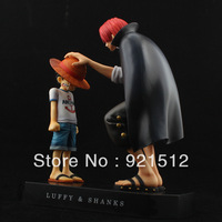One Piece Hand A Tour Garage Kits GK Straw Hat Luffy Red hair & Shanks Classic Scenes Anime Dolls Model Animation Free shipping