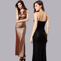 Light V-neck 2013 summer high waist formal dress slim sexy halter-neck evening dress spaghetti strap adjustable banquet dress