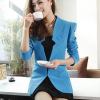 Female slim blazer outerwear women's 2013 autumn medium-long long-sleeve plus size suit