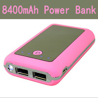 30pcs/lot External Battery Charger 8400mAh Power Bank for iphone 5 for iphone 4 ipad samsung mobile phone Free Fedex ship