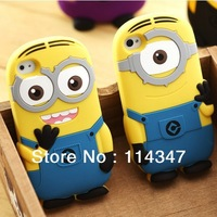 3D Cute Cartoon Despicable Me Single eye Silicone Soft Back Case Cover Skin Protector For iPhone 4 4S 5 5G