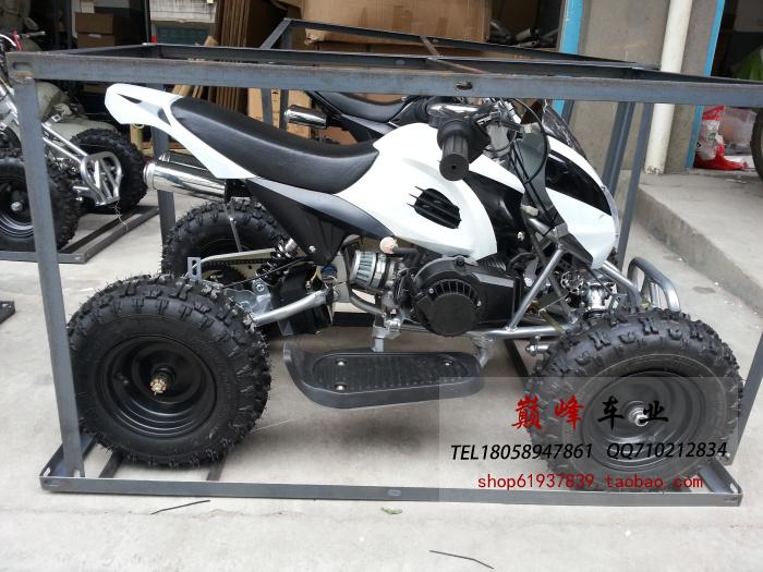 Electric gasoline small four wheel 49cc double exhaust pipe mini motorcycle mini atv 6 wheel(China (Mainland))