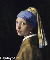 Museum Quality 100% Hand Painted Famous Paintings Reproductions The Girl with a Pearl Earring FREE SHIPPING