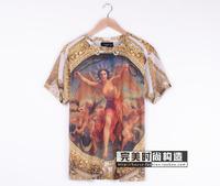 New Arrival Men Women Giv Short Sleeve T-shirt Free Goddess Print Short Sleeve Tees Top Shirts High Quality