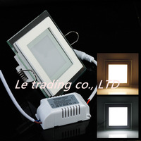 Hot selling 10W/15W/25W Glasses led Square panel Recessed Wall ceiling Downlight AC85-265V ,Warm /Cool white,indoor lighting
