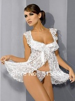 Free shipping  Hot selling sexy lingerie special offer lady lace transparent sexy underwear set with G-string