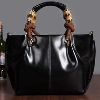 Free shipping Luxury genuine leather handbag Girls / women's tote bag Briefcase fashion