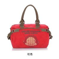 2013 canvas one shoulder cross-body bag for women monkey cartoon bag pillow bag