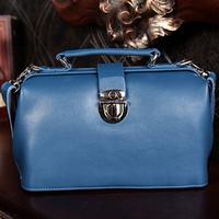 Free shipping Luxury genuine leather shoulder bag Girls/ women's vintage doctor bag Messenger bag