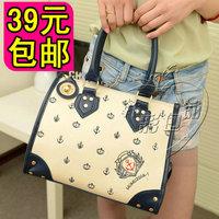 2013 spring women's handbag bag fashion smiley bag navy style handbag shoulder bag