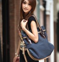 Women's bag fashion canvas 2013 women's one shoulder handbag big bag chromophous 2188
